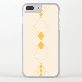 Minimal Geometry - Golden Clear iPhone Case