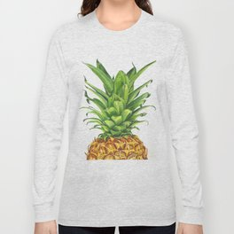 Watercolor Pineapple Long Sleeve T-shirt