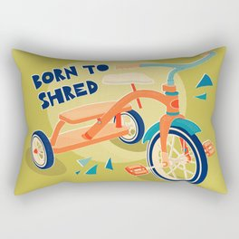 Born to Shred Vintage Tricycle Rectangular Pillow
