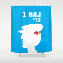 Glory to Yugoslavian design Shower Curtain