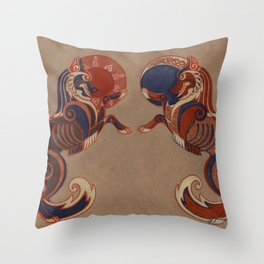 Geri and Freki Throw Pillow