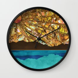 Fractured Sky Wall Clock
