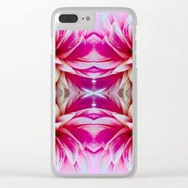 143 - Abstract flowers Clear iPhone Case