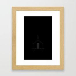 April - Gray Framed Art Print