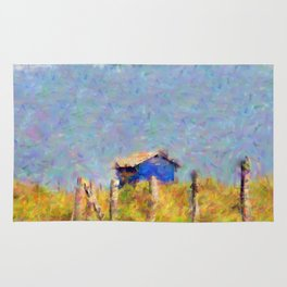 House by the sea Rug