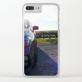 Subies and Sunsets Clear iPhone Case