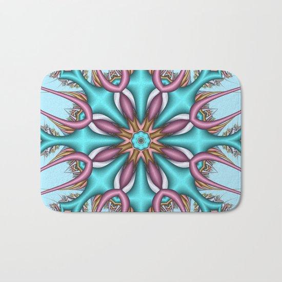 Pastel Pattern Kaleidoscope with optical effects Bath Mat
