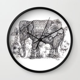 """Anesh the Creative Elephant"" Wall Clock"