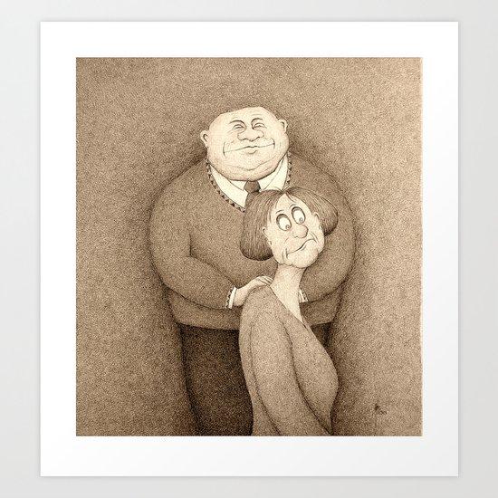Ghal Dejjem (Forever) Sepia Version Art Print