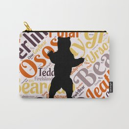 Gay bear pride lgbt bears osos queer art  Carry-All Pouch