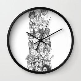 people...people everywhere Wall Clock