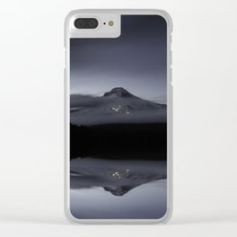 Trillium Lake Reflection Clear iPhone Case