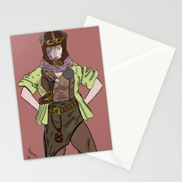 Steampunk Anime Girl Stationery Cards