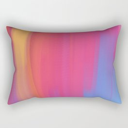 colorful abstract art using mixer brushes Rectangular Pillow