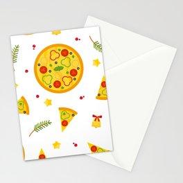 Christma Pizza Stationery Cards