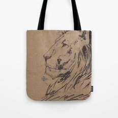 Lion Profile Tote Bag