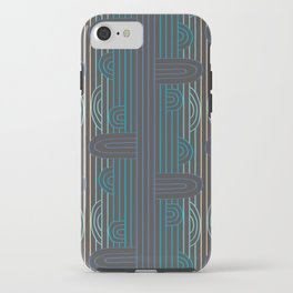 art deco stripe iPhone Case