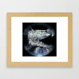 The Kyanite Dragon Framed Art Print