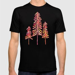Pine Trees – Pink & Peach Ombré T-shirt