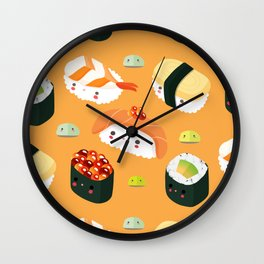 Kiddo Sushi Wall Clock