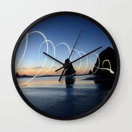 Ocean light rays Wall Clock