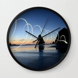 Ocean light rays Wall Clock