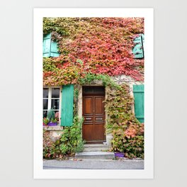 Fall in France Art Print