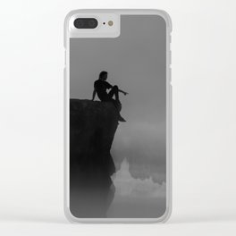 Silhouette On Mountaintop Clear iPhone Case