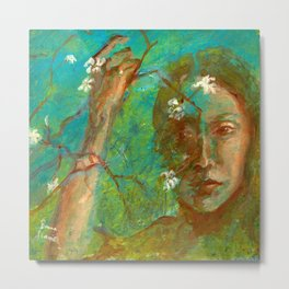 Veil of Blossoms Metal Print