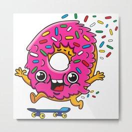 Skater Donut Metal Print