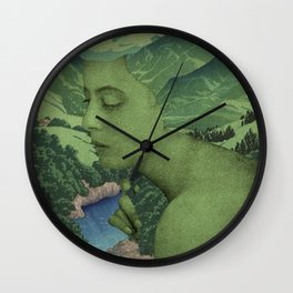 GREEN JEAN Wall Clock