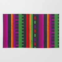 mexican Area & Throw Rugs featuring Mexican Pattern by rusanovska