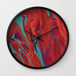 Paint Pouring 62 Wall Clock