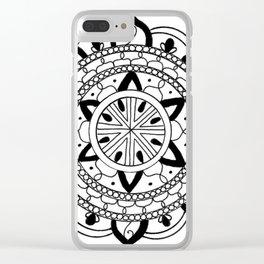 Mandala #3 Clear iPhone Case