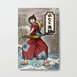 Lufy wano - one piece Metal Print