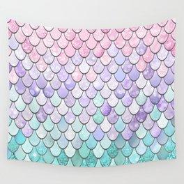 Mermaid Pastel Pink Purple Aqua Teal Wall Tapestry
