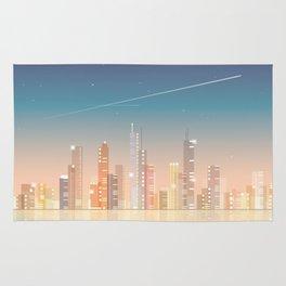 City skyline at night Rug