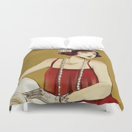 Flapper Girl #2 Duvet Cover