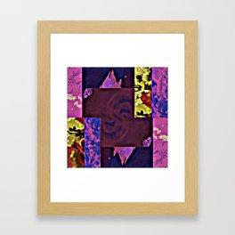 Rose Collage 143 Framed Art Print