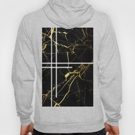Black-Gold Marble Impress Hoody