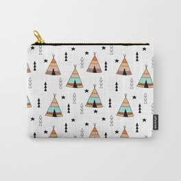 Cute tipi pattern Carry-All Pouch