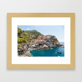 Manarola is one of the most beautiful islands of Cinque Terre Framed Art Print