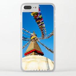 Bodhnath Stupa Clear iPhone Case
