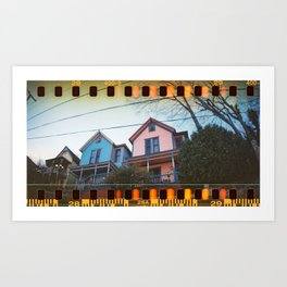 Three Sisters Houses Art Print