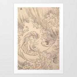Wave by Katsushika Hokusai 1760–1849, Japanese Art Print