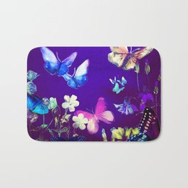 Night Butterflies Bath Mat