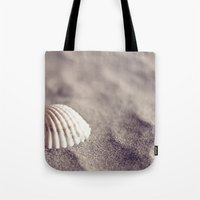 seashell Tote Bags featuring Seashell by Dena Brender Photography