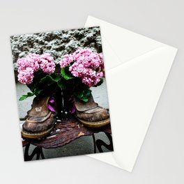 These Boots Are Made For Flowers Stationery Cards