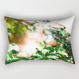 Sunlight on River Branches Rectangular Pillow