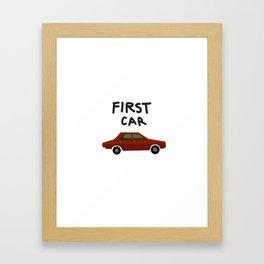First car Framed Art Print